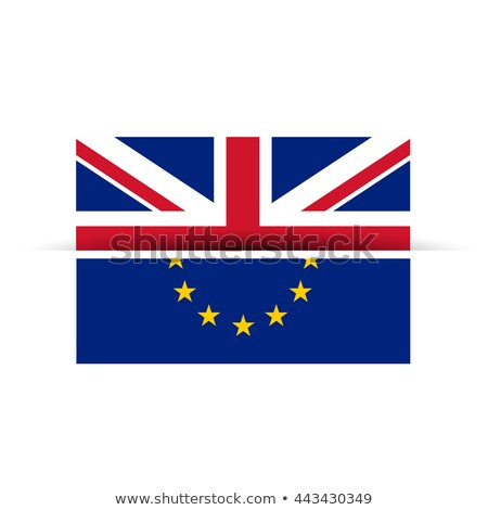 uk and european union flag getting seperated Stock photo © SArts