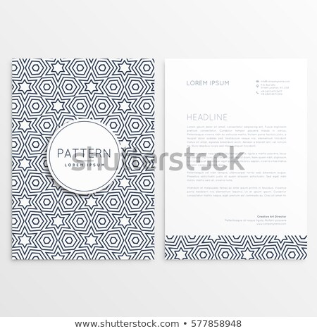 front and back letterhead design with pattern shape Stock photo © SArts