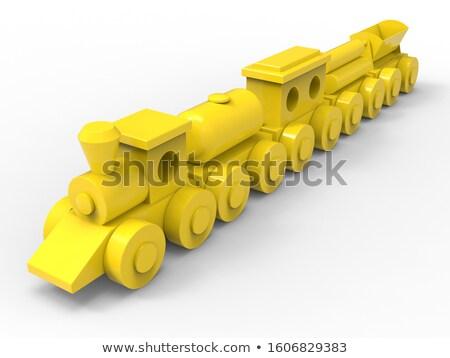Játékok citromsárga vagon illusztráció háttér művészet Stock fotó © bluering