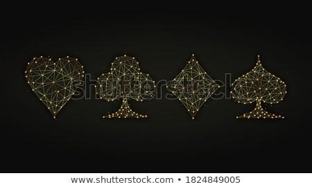 Spade symbool ontwerp deeltjes abstract explosie Stockfoto © SArts