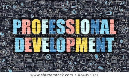 Personal Development on Dark Brick Wall. Stock photo © tashatuvango