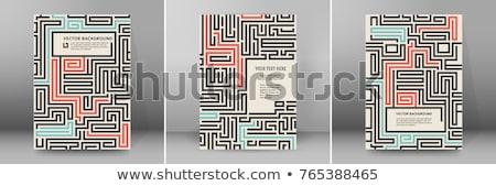 Abstract maze flyer template Stock photo © orson