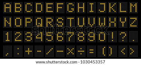 led panel digital scoreboard vector illustration Stock photo © konturvid