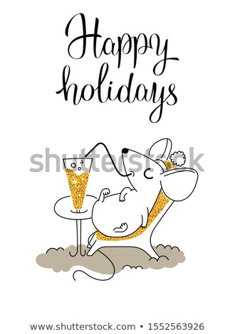 Beach chaise longue vector cartoon illustration. Stock photo © RAStudio