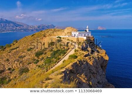 Altea lighthouse Faro del Albir, Costa Blanca Stock photo © LianeM