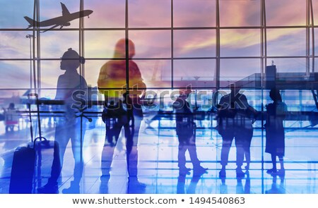 airport terminal business background Stock photo © alexaldo