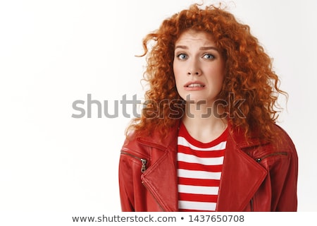 Weird meisje griezelig spin eps vector Stockfoto © chocolatebrandy