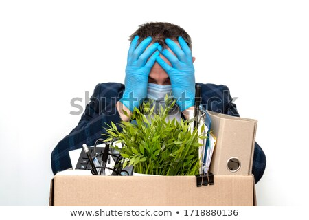 businessman with dollar box on his head stock photo © elnur