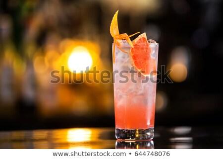 Watermelon margarita cocktail on white background. Fresh watermelon lemonade Stock photo © Illia