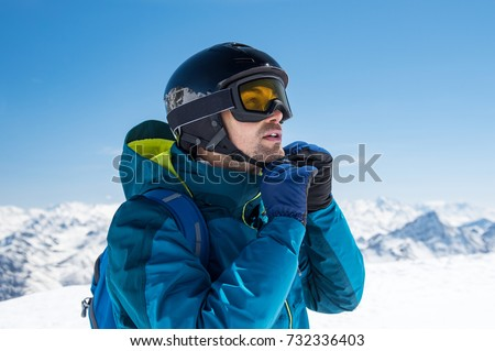 skier middle-aged man, Hiking skiing Stock photo © studiostoks