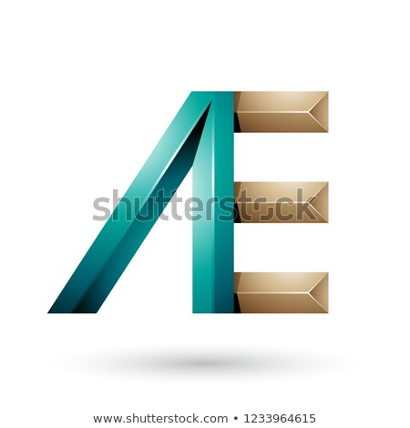 Green and Beige Pyramid Like Dual Letters of A and E Vector Illu Stock photo © cidepix