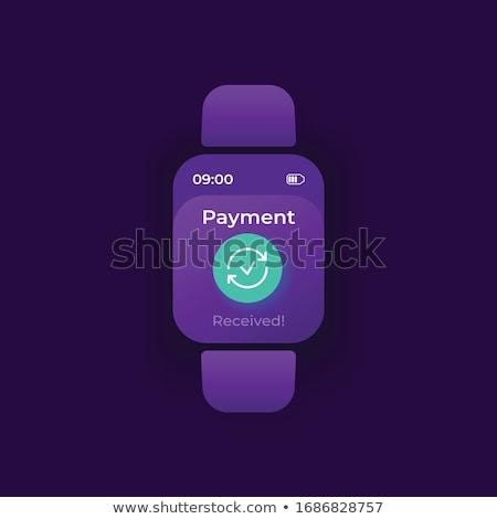 Smartwatch payment app interface template. Stock photo © RAStudio