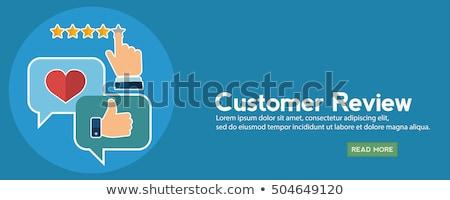 Klant terugkoppeling klanten laptop hoofdtelefoon duim Stockfoto © RAStudio