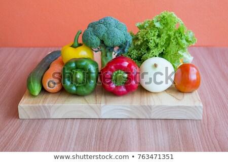 Voedsel dranken stilleven foto vruchten groenten Stockfoto © robuart