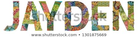 male name jayden vector decorative zentangle object stock photo © natalia_1947