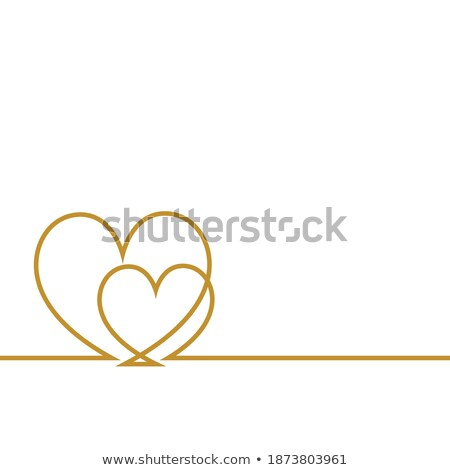 simple two line hearts shape valentines day background Stock photo © SArts
