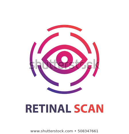 Eye scan icon,eye scanner, biometric recognition system. Vector illustration isolated on white backg Stock photo © kyryloff