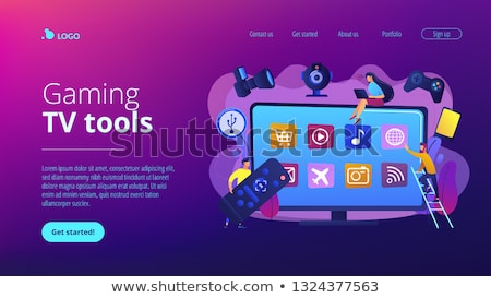 Smart TV accessories concept landing page. Stock photo © RAStudio