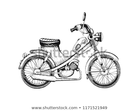 Hand drawn sketch, racer wheel icon Stock photo © netkov1