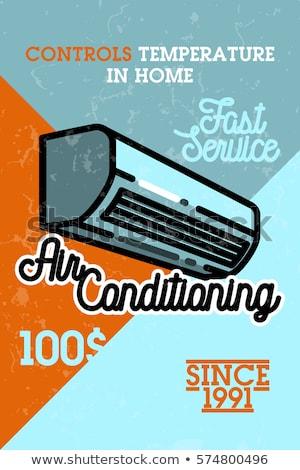 Colore vintage aria condizionata banner ventilazione eps Foto d'archivio © netkov1