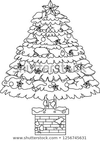 decorado · árvore · de · natal · neve · ilustração · grande - foto stock © Blue_daemon