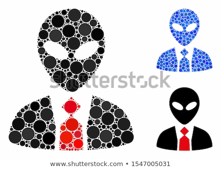 Male symbol with shade on a green circle. Science icon Stock photo © Imaagio