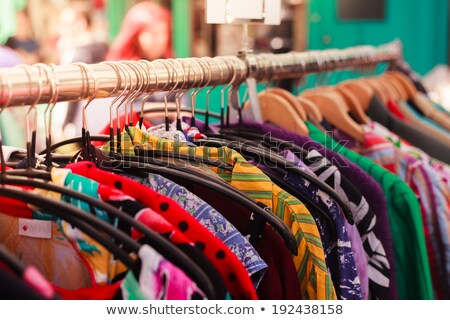 clothes hanging on a rack in a street market Stock photo © nito