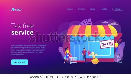 Tax free service concept landing page Stock photo © RAStudio