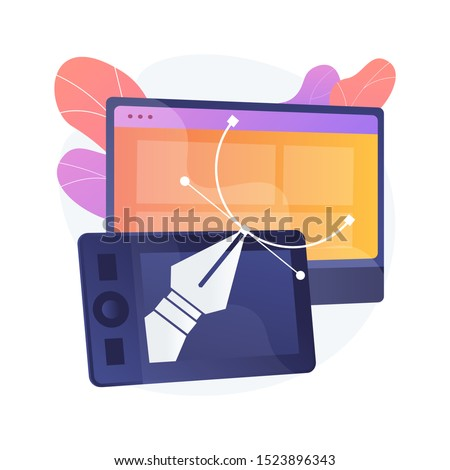 Editable drawings creating vector concept metaphor. Stock photo © RAStudio