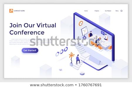 Online conference landing page template Stock photo © RAStudio