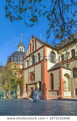 Templom Németország barokk homlokzat épület utazás Stock fotó © borisb17