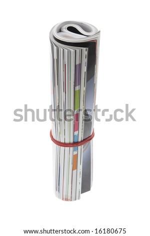 Rolled up magazines Stock photo © nomadsoul1