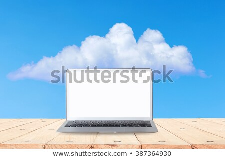 Tablet and desktop computer with white screen on a white background. Stock photo © kyryloff