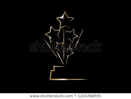 Filme conselho dourado cinema prêmio vetor Foto stock © robuart