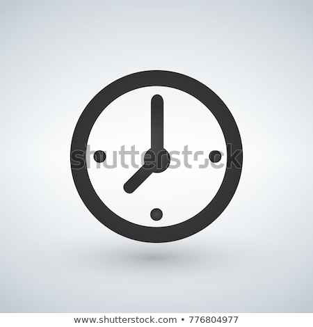 Office Round Classic Clock Icon, Clock Face Stock photo © supertrooper