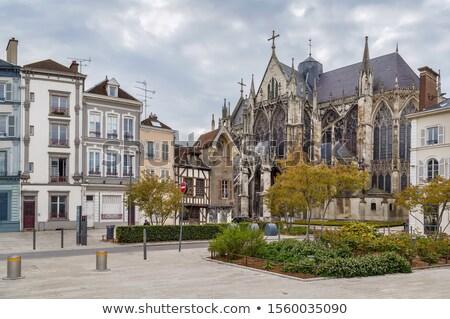 Kare bazilika aziz kentsel Fransa şehir merkezinde Stok fotoğraf © borisb17
