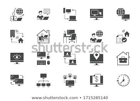 Portefeuille vector icon geïsoleerd witte business Stockfoto © smoki
