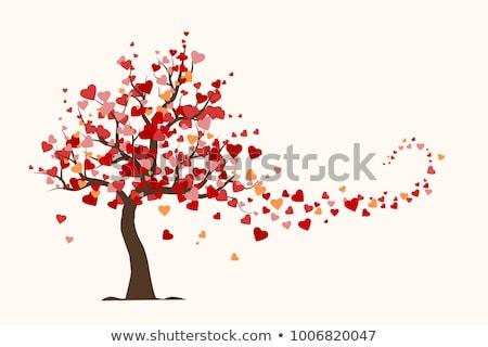Modelo dia dos namorados árvore corações amor Foto stock © antoshkaforever