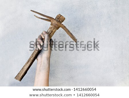 Worker holding pick-axe Stock photo © photography33