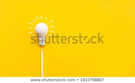 lápis · grande · idéia · lápis · laranja - foto stock © designsstock