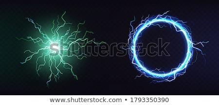 átlátszó · kék · zöld · golyók · fényes · absztrakt - stock fotó © Onyshchenko