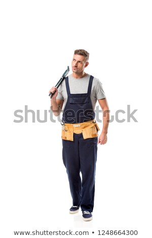 Man holding a pipe wrench Stock photo © photography33