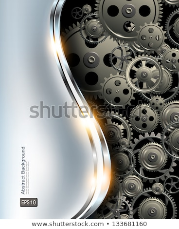 Abstract metal background with modern clock Stock photo © m_pavlov