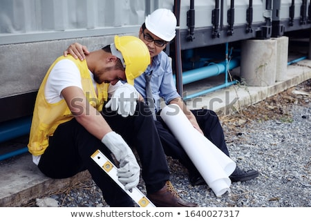 An unhappy foreman onsite. Stock photo © photography33
