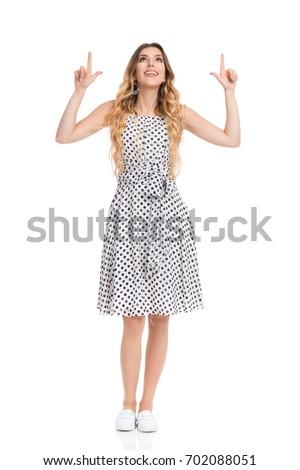 Foto stock: Jóvenes · feliz · mujer · viendo · hasta · blanco