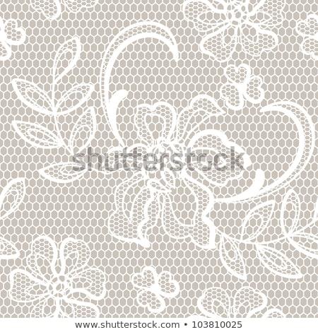 vintage grunge background with lace border stock photo © marimorena