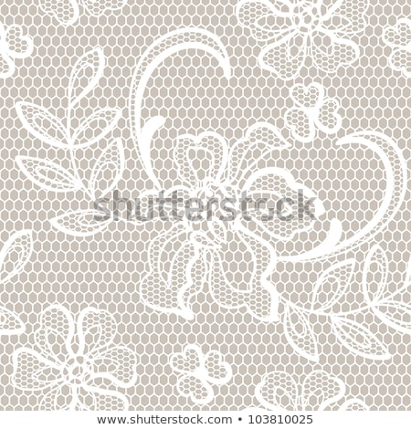 dentelle · vintage · beige · blanche · cadre · fond - photo stock © marimorena
