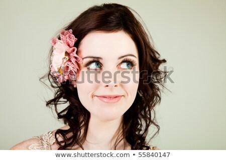 Modieus jonge vrouw geïsoleerd witte ontwerp winkelen Stockfoto © PawelSierakowski