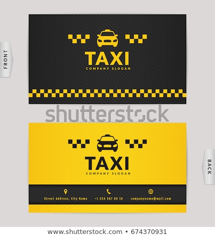 Stock photo: Visiting cards  taxi