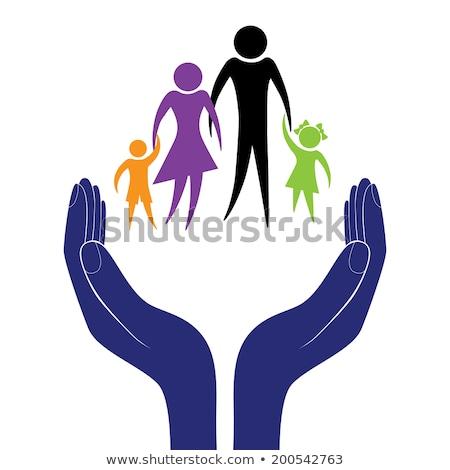 Strony dziecko ojciec zachęta wsparcia moralny Zdjęcia stock © Hermione